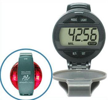 Sportline Flashing Safety Light Pedometer